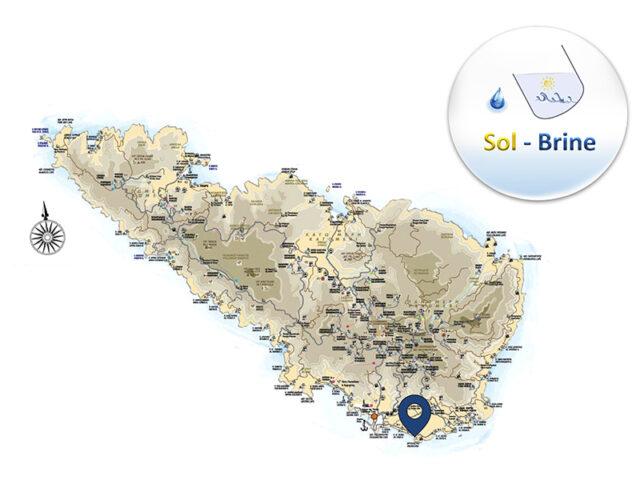 SOL BRINE Tinos Map